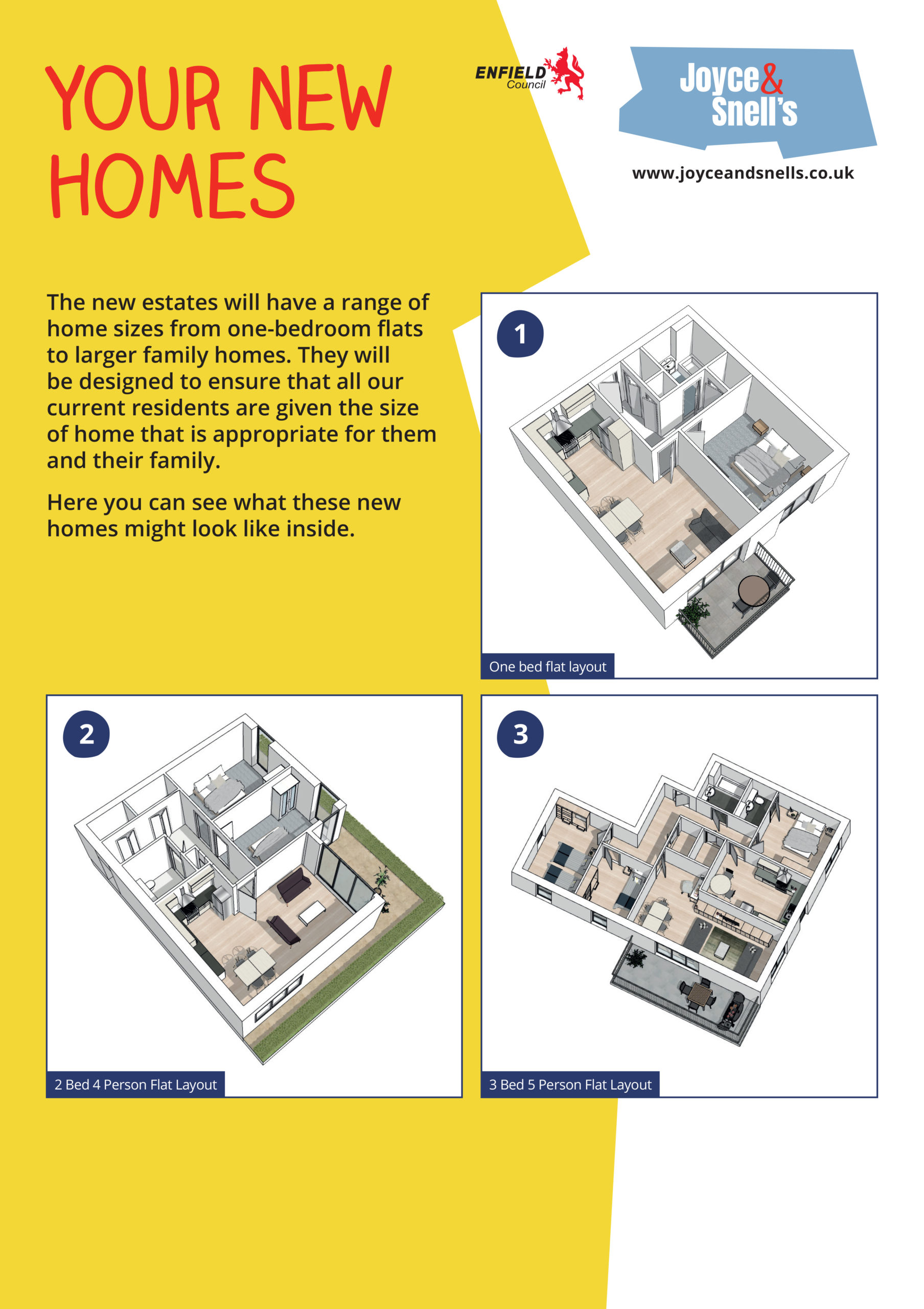 Joyce & Snells Exhibition Board 5 - Your new homes